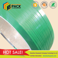 PET material manual packing application polyester packing strap for alfalfa hay band packing