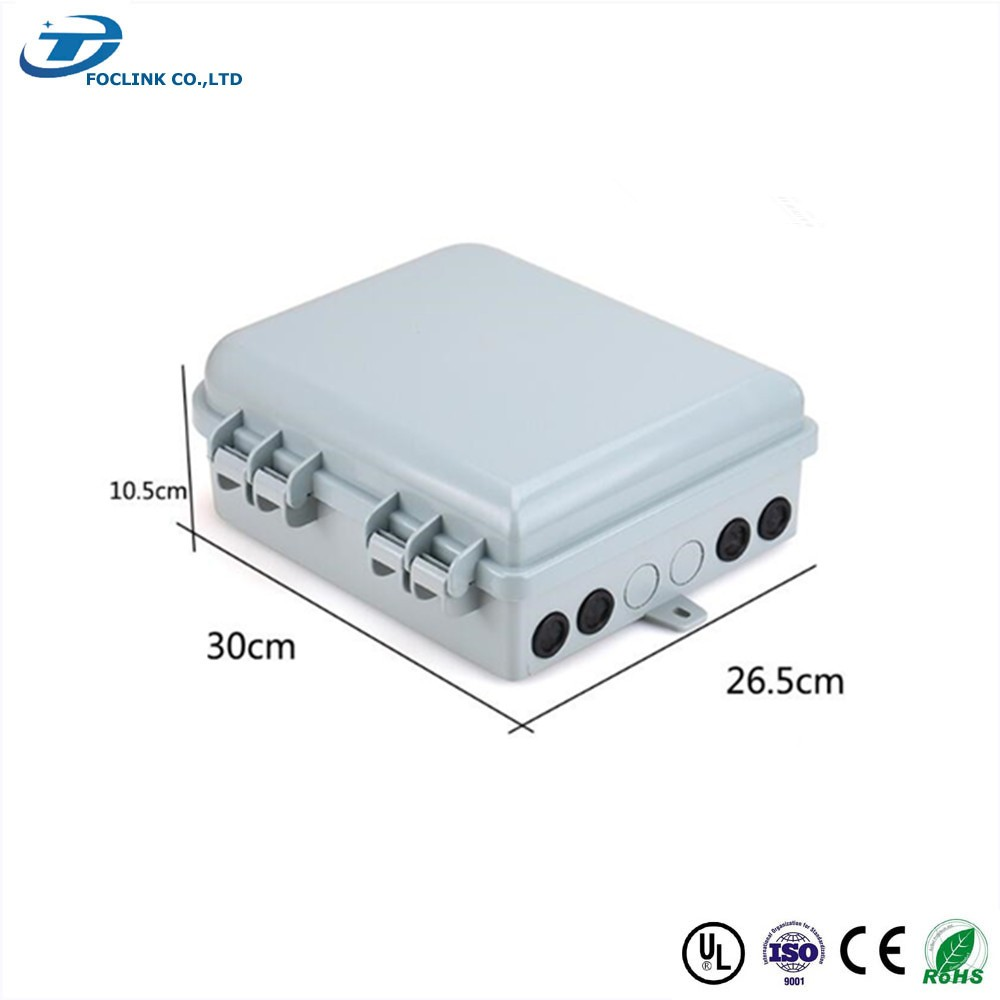fiber optic termination box odf 16 port wall box for ftth
