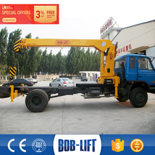 Dump truck 8 ton crane truck with flatbed