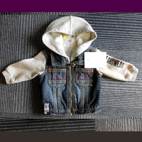 New arrival high quality unisex children's denim jacket kids jacket for spring and fall seasons