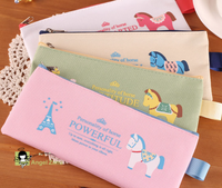 Latest animal horse pencil case , pencil bag for girls