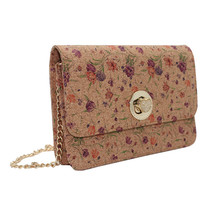 Boshiho Cork Purses Handbags Fashion with Chain Strap