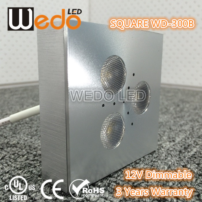MINI SMD 3w 12v UL surface mounted led closet light,led puck light,led under cabinet light WD-300B-3W