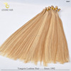 100% remy human keratin hair extension, double drawn flat tip hair extensions