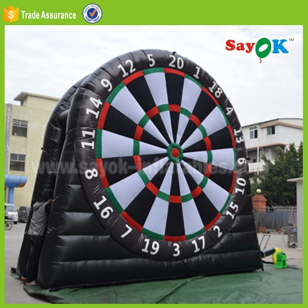 inflatable foot darts game for sale potable sports soccer darts with 6 balls