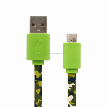 1m 3ft 1.83m 6ft 5pin PVC flower usb micro cable for android mobile phone for Xiaomi for Huawei for Samsung
