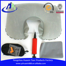 Business class high quality grey jersey travel kit
