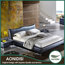 AONIDISI high quality modern silver pu leather bed for home PYS1029
