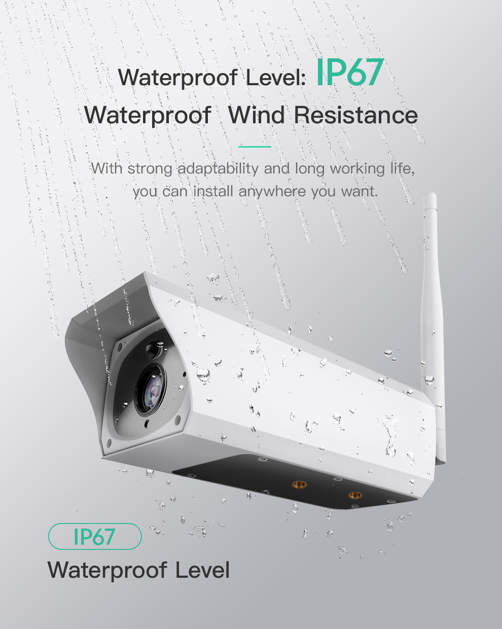 waterproof 2.0MP SC310 Wifi H.264 1080P Outdoor Solar IP Cameras