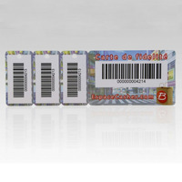 Combo Business Card Plastic Key Tag Fob with Barcode