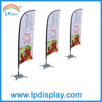 Fiberglass pole flying banner advertising feather flag