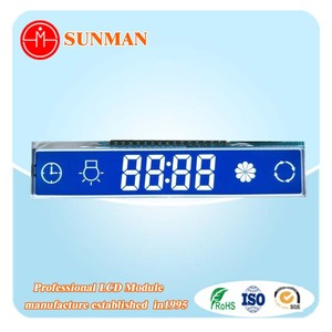 2018 new hot china factory sales custom cheap monochrome 7 segment small size backlight tn digit lcd