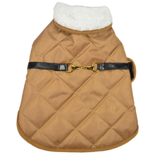 luxury and leather accessories pet dog coffee coat clothes