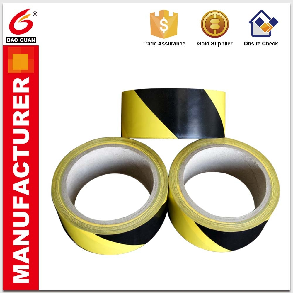 No residual adhesive and Mix Colors Barrier PVC Warning Tape