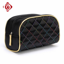 Professional factory travel use large satin smart cosmetic bag women