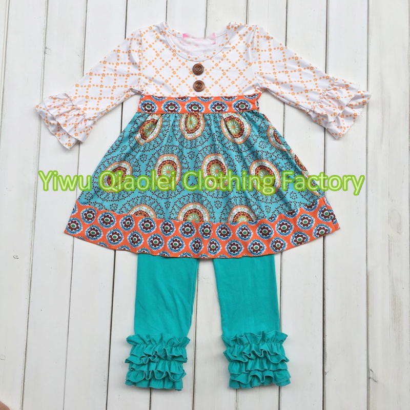 Wholesale autumn fashion teen clothing two piece for kids hot sale outfits