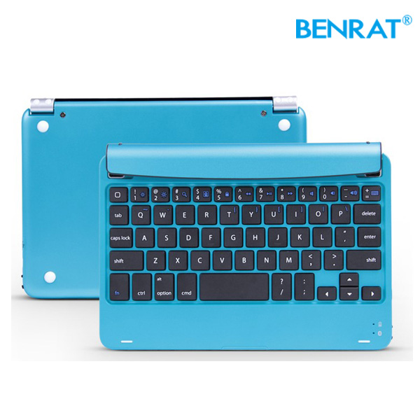 Blutooth Leather Case aluminum shell mini Wireless Keyboard for ipad mini