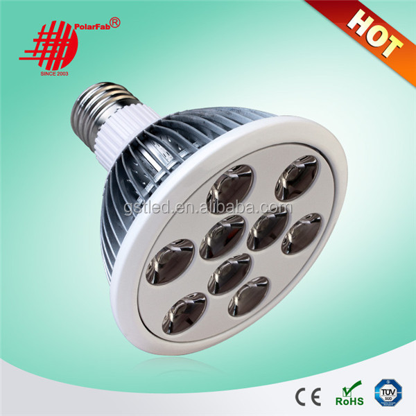 Aluminum Housing 12W 15W 18w par38 led spotlight e27 spot light