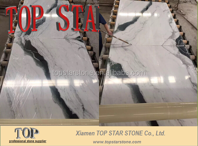 Cheap White Marble with Black Strip Veins Stone