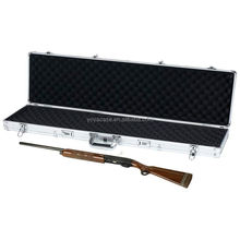 Tactical Long RIFLE Shotgun GUN CASE ALUMINUM Frame locking storage Gun Case