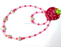 Wholesale handmade fashion beaded necklaces Acrylic beaded necklace