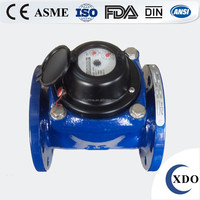 Factory Price Cast iron flange end turbine type industrial woltman water flow meter