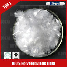100% polypropylene pp fiber 3mm-50mm for dry mortar