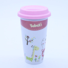 High Quality Wholesale Double Wall Ceramic Travel Coffee Mug