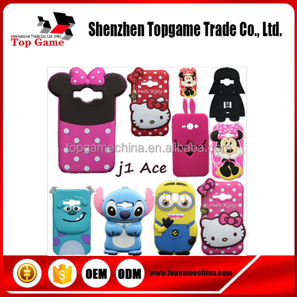 3D Cute Kitty Minnie Sully Stitch Minions Silicone Case For Samsung GALAXY J1 Ace J110 J110M J110F J110G J110L Phone Cover