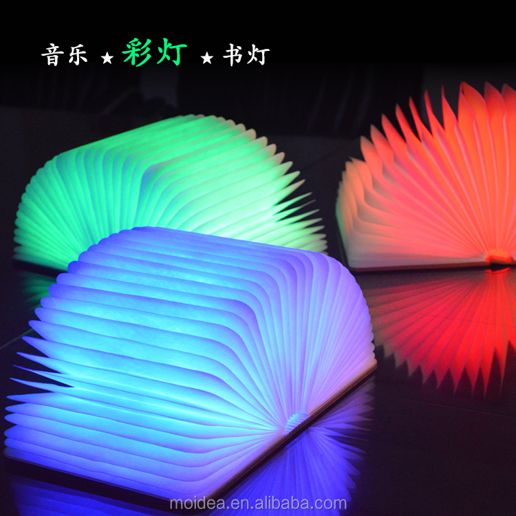 Creative Folding Book Lights Colorful Modern LED Table Lamp