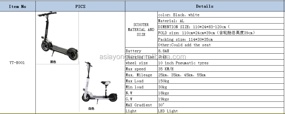 Electric scooter Adult scooter YT-H001/scooter motor