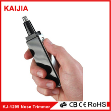The black portable durable nose and ear hair trimmer