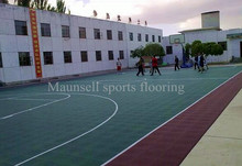 3 years export PP tiles interlocking floor basketball sports outdoor floor