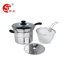 22cm Stainless Steel Encapsuled Bottom Noodle Pot / Pasta Pot/ Steamer pot