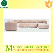 Moontree MSF-1141 modern design italian leather u shaped sectional sofa