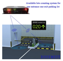 Wireless Magnetic Car Counting Detector System for available lots counter