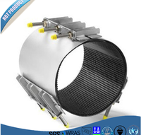 CR-3 SS304/316/201 barrel Band PIpeline Repair Clamp water pipe repair clamp