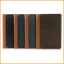New goods book shaped wallet flip stand PU leather tablet case for iPad Air 2