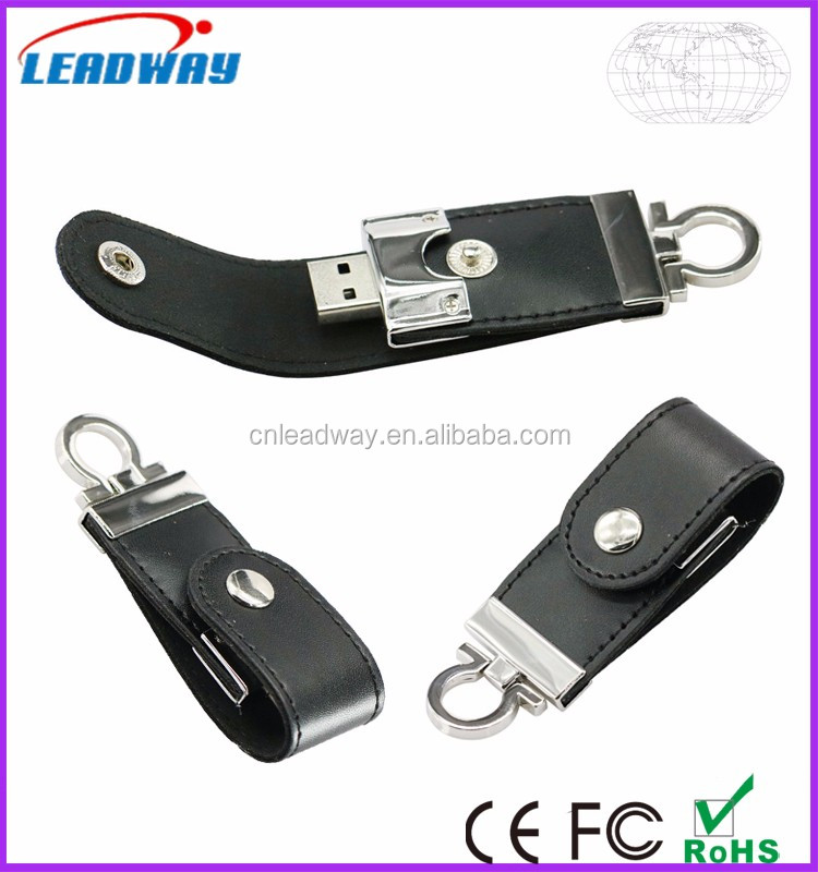 2017 OEM/ODM Leather USB Flash Drive Stick , 1GB-64GB USB 2.0 3.0 Free Customized LOGO