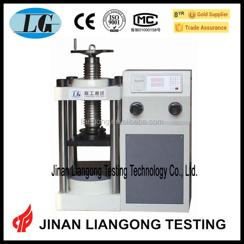 computer control construction materials concrete hydraulic pressure tester/pressure test gauge/high pressure testing