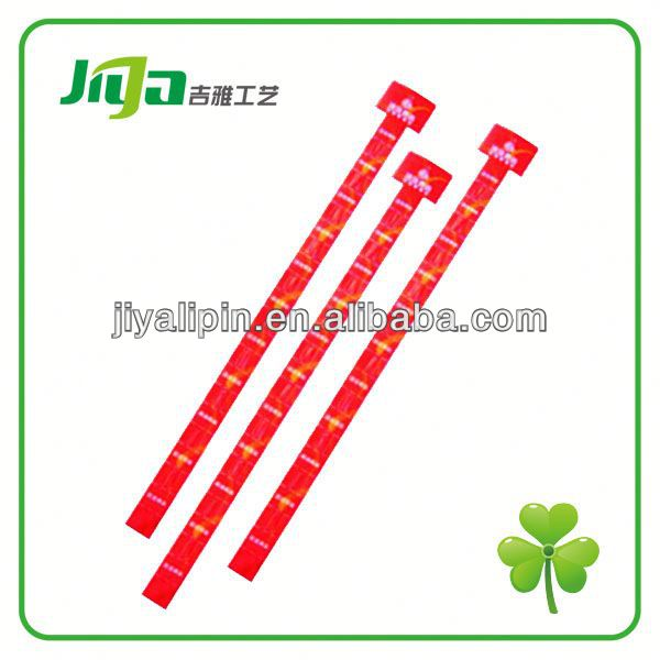 Customized supermarket hang strip with clear pattern