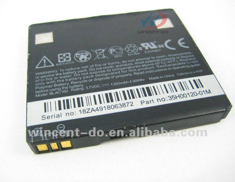 Cell phone battery Li-ion battery For HTC 7 Mozart, A7272, BB96100, Desire Z, PC10100, T8698, Vision,