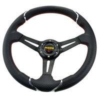 14inch 350mm Momo Deep Corn Suede Leather wrap Drifting Steering Wheel