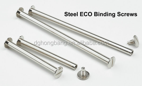 Nickel Plated Steel Binding Screw For Wire Books Album
