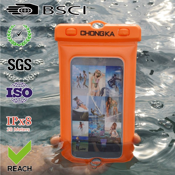 Clear plastic waterproof bags used for cell phone bags