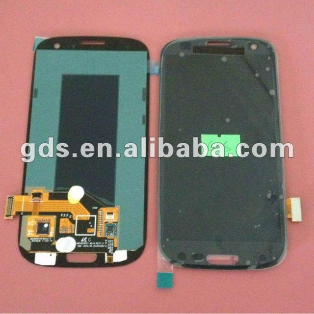 For samsung Galaxy Siii 3 i9300 T999 i747 lcd Glass combo(blue &white)