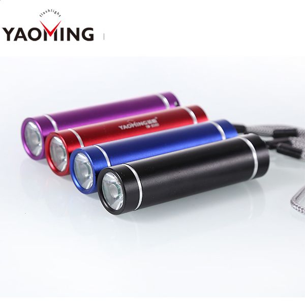 yao ming 1 watt Led Flashlight Cheap Portable Flashlight AAA Battery Flashlight