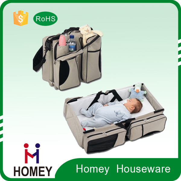 Customized Top Selling Mam Diaper Baby Bed Bag collapsible hanging baby bag for 2016