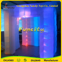 Giant Inflatable Cube Tent With Led , CE Approved Inflatable Exhibition Tent