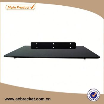 Professional Decorative Set-top Box Glass Wall hot-sale vesa mount with dvd bracket